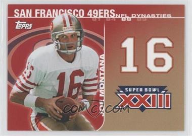 2008 Topps NFL Dynasties Tribute #DYN-JM3 - Joe Montana