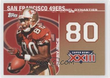 2008 Topps NFL Dynasties Tribute #DYN-JR - Jerry Rice