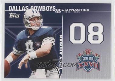 2008 Topps NFL Dynasties Tribute #DYN-TA - Troy Aikman