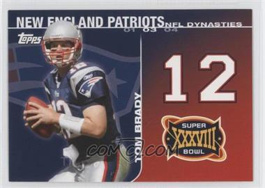 2008 Topps NFL Dynasties Tribute #DYN-TB - Tom Brady