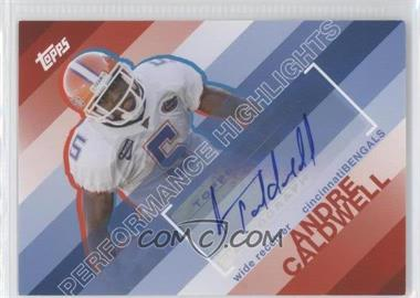 2008 Topps Performance Highlights Autographs [Autographed] #THA-AC - Andre Caldwell