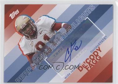 2008 Topps Performance Highlights Autographs [Autographed] #THA-DF - De'Cody Fagg