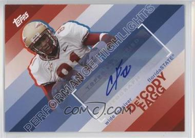 2008 Topps Performance Highlights Autographs [Autographed] #THA-DF - De'Cody Fagg