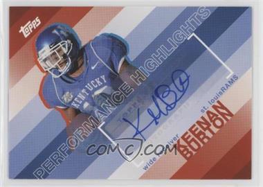 2008 Topps Performance Highlights Autographs [Autographed] #THA-KB - Keenan Burton