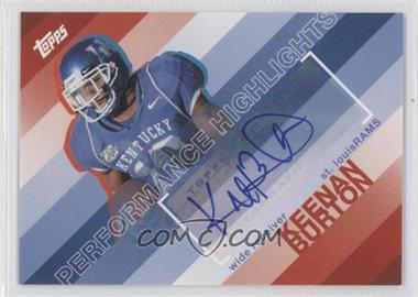 2008 Topps Performance Highlights Autographs [Autographed] #THA-KB - Keenan Burton
