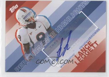 2008 Topps Performance Highlights Autographs [Autographed] #THA-LL - Lance LeGree