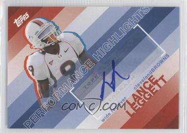 2008 Topps Performance Highlights Autographs [Autographed] #THA-LL - Lance Leggett