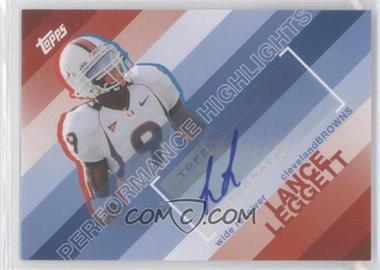 2008 Topps Performance Highlights Autographs [Autographed] #THA-LL - Lance Leggett