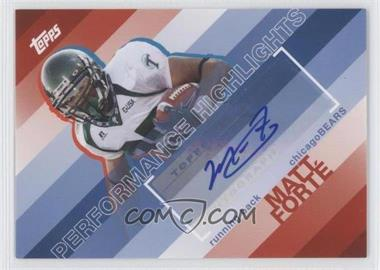 2008 Topps Performance Highlights Autographs [Autographed] #THA-MF - Matt Forte