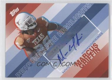 2008 Topps Performance Highlights Autographs [Autographed] #THA-MG - Marcus Griffin