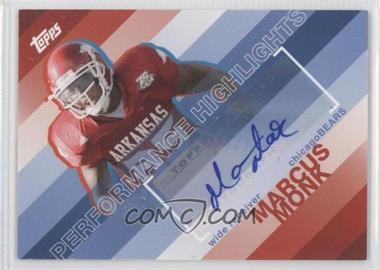2008 Topps Performance Highlights Autographs [Autographed] #THA-MMO - Marcus Monk