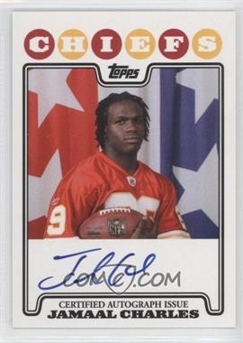 2008 Topps Rookie Premiere Autographs #RPA-JC - Jamaal Charles