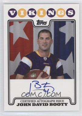2008 Topps Rookie Premiere Autographs #RPA-JE - John David Booty