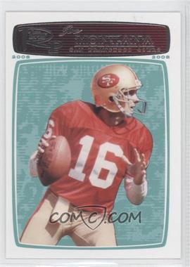 2008 Topps Rookie Progression - [Base] #160 - Joe Montana