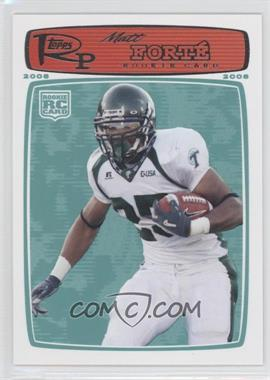 2008 Topps Rookie Progression - [Base] #219 - Matt Forte