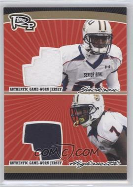 2008 Topps Rookie Progression - Dual Jersey Relics - Gold #PDR-JH - Ali Highsmith, Chevis Jackson /25