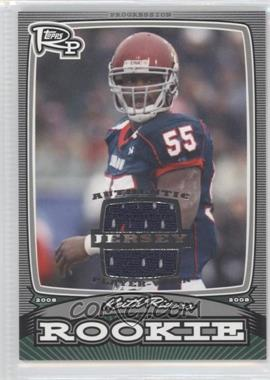 2008 Topps Rookie Progression - Rookies - Silver Jerseys [Memorabilia] #PR-KR - Keith Rivers /199
