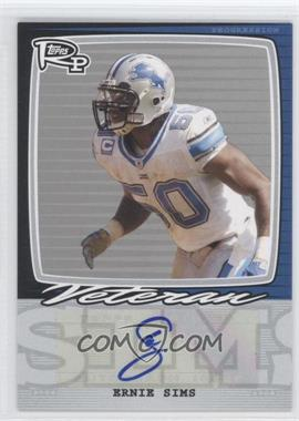 2008 Topps Rookie Progression - Single Signatures - Silver #PSS-ES - Ernie Sims /20