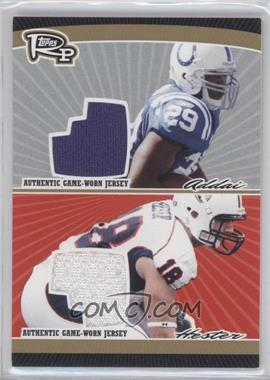 2008 Topps Rookie Progression Dual Jersey Relics Gold #PDR-AH - Joseph Addai, Jacob Hester /25