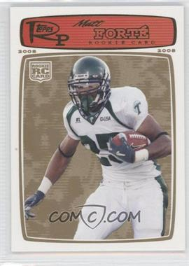 2008 Topps Rookie Progression Gold #219 - Matt Forte /199
