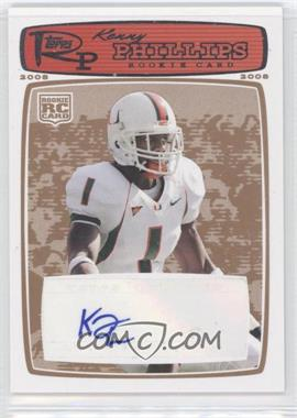 2008 Topps Rookie Progression Rookie Autographs Red Bronze [Autographed] #189 - Kenny Phillips /35