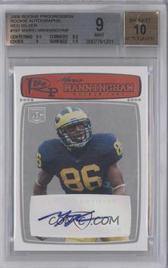 2008 Topps Rookie Progression Rookie Autographs Red Silver [Autographed] #197 - Mario Manningham /20 [BGS 9]