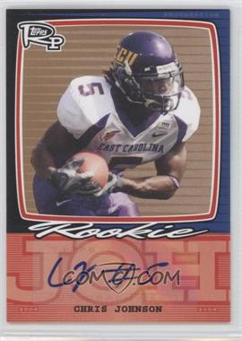 2008 Topps Rookie Progression Single Signatures Bronze #PSS-CJ - Chris Johnson /35