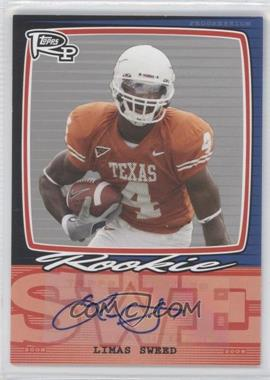 2008 Topps Rookie Progression Single Signatures Silver #PSS-LS - Limas Sweed /20