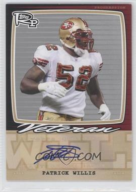 2008 Topps Rookie Progression Single Signatures Silver #PSS-PW - Patrick Willis /20
