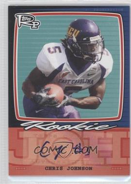 2008 Topps Rookie Progression Single Signatures #PSS-CJ - Chris Johnson