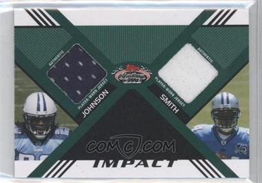 2008 Topps Stadium Club Impact Dual Relics #DR-JS - Chris Johnson, Kevin Smith /50