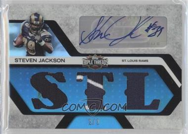 2008 Topps Triple Threads - Autographed Relics - Sapphire #TTRA-136 - Steven Jackson /2