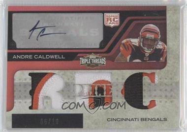 2008 Topps Triple Threads - [Base] - Autographed Prime Rookies Red #132 - Andre Caldwell /10