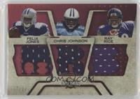 Felix Jones, Chris Johnson, Ray Rice /22