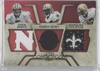 Marques Colston, Reggie Bush, Drew Brees /22
