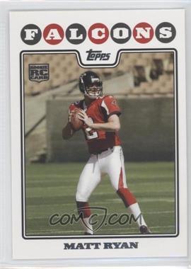 2008 Topps #331.1 - Matt Ryan (Helmet On)