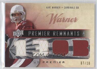 2008 UD Premier - [???] #PR4-WA - Kurt Warner