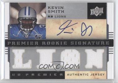 2008 UD Premier - Premier Rookie Signature Memorabilia - Jersey 1 #123 - Kevin Smith /60