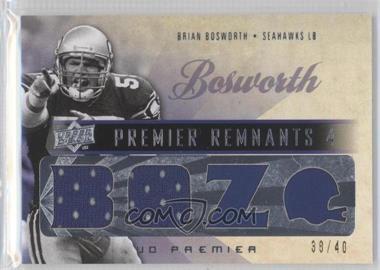 2008 UD Premier [???] #PR4-4 - Brian Bosworth /40