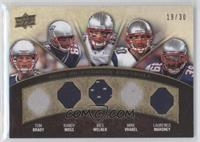 Tom Brady, Randy Moss, Wes Welker, Mike Vrabel, Laurence Maroney /30