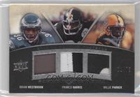 Brian Westbrook, Willie Parker, Franco Harris /75