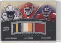 LaDainian Tomlinson, Larry Johnson, Brandon Jacobs /75