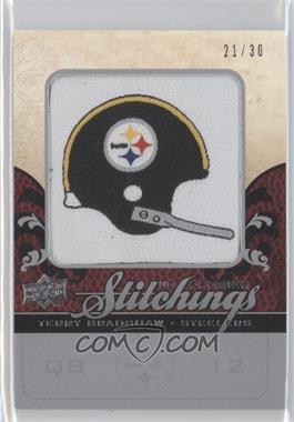 2008 UD Premier Stitchings NFL Team Logo/Draft Silver #PS-TB - Terry Bradshaw /30