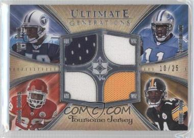 2008 Ultimate Collection - Ultimate Generations Foursomes Jerseys - Prime Silver #UFGJ-25 - Vince Young, Jamaal Charles, Limas Sweed /25