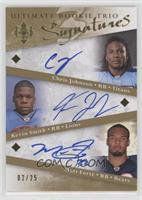 Matt Forte', Kevin Smith, Chris Johnson /25