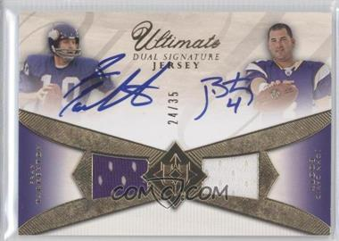 2008 Ultimate Collection Ultimate Dual Signature Jerseys #UDAJ-19 - John David Booty, Fran Tarkenton /35