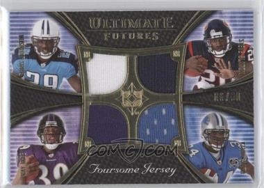 2008 Ultimate Collection Ultimate Futures Foursomes Jerseys Gold #UFRJ-3 - Steve Slaton, Ray Rice, Chris Johnson, Kevin Smith /50