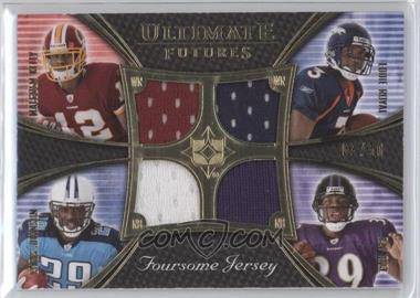 2008 Ultimate Collection Ultimate Futures Foursomes Jerseys Gold #UFRJ-4 - Eddie Royal, Chris Johnson, Ray Rice, Malcolm Kelly /50