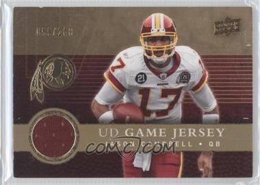 2008 Upper Deck - UD Game Jersey - Gold #UDGJ-JC - Jason Campbell /200