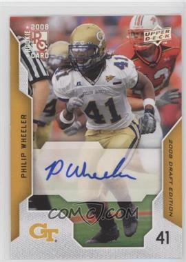2008 Upper Deck Draft Edition - [Base] - Exclusives Autograph [Autographed] #82 - Philip Wheeler